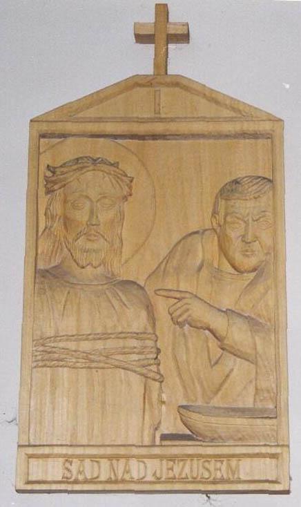 płaskorzeźba sąd nad Jezusem