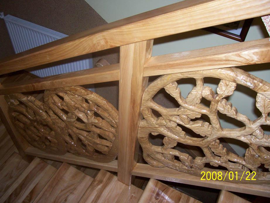 schody drewniane balustrada rzezbiona 7